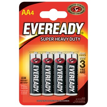 Eveready Super Zinc Aa Batteries 4s (EVR6SUPERB4)
